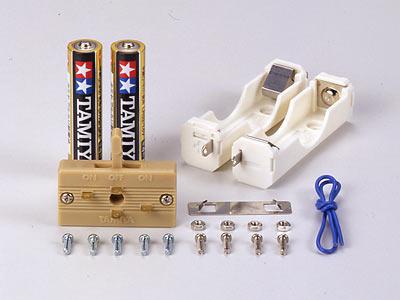 単4電池ボックス (1本用×2・逆転スイッチ付): 工作&クラフト ...